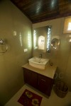 Table top washbasin & mirror with light