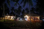 Awesome luxury cottages in the night