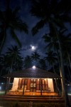 Royal luxury cottage in moonlight