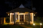 Luxury cottage is beautiful in the night